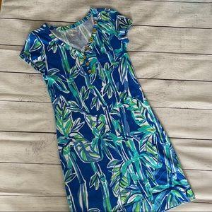 Lilly Pulitzer Palmira Tee Dress in Bamboo Sz XXS